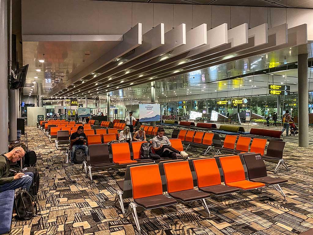 Gate A15 Singapore airport