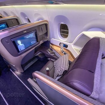 Singapore Airlines A350 business class seat