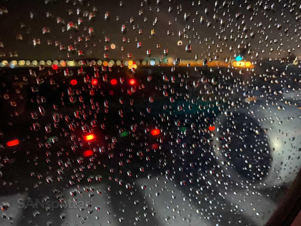 rainy night at Changi Airport