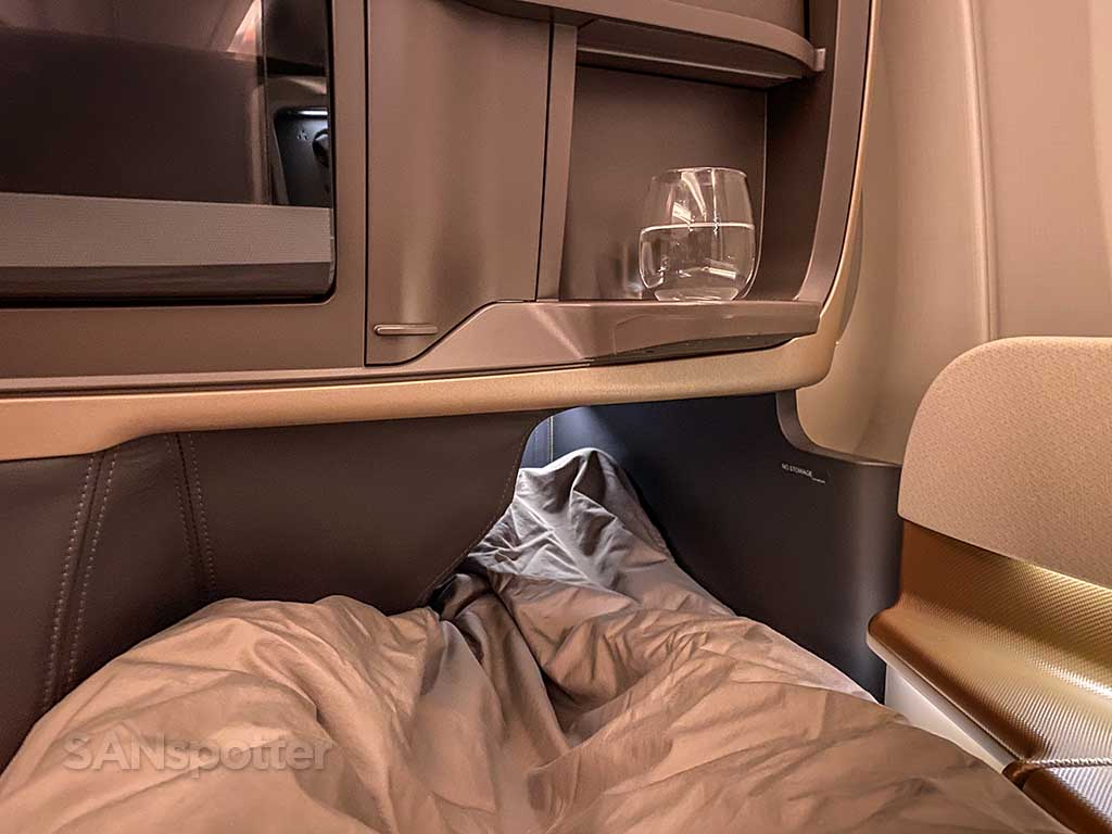 Singapore Airlines A350 Business Class small footwell