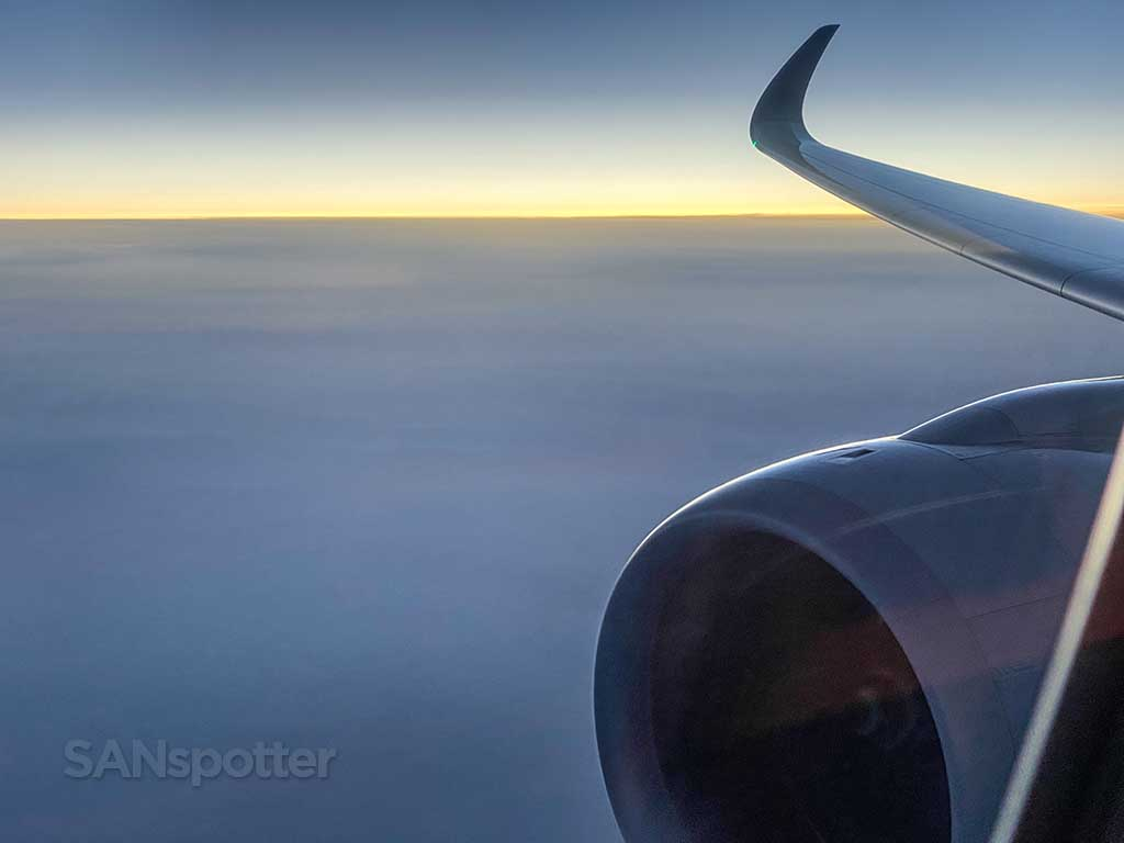 a350 wing and winglet view from seat 15K