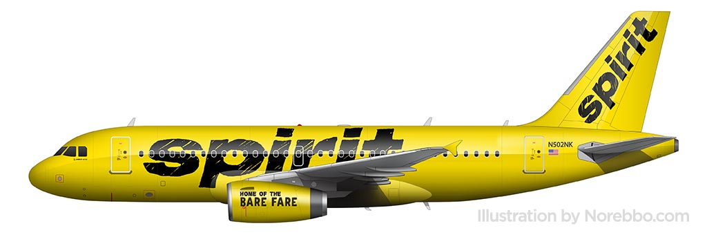 Spirit Airlines livery