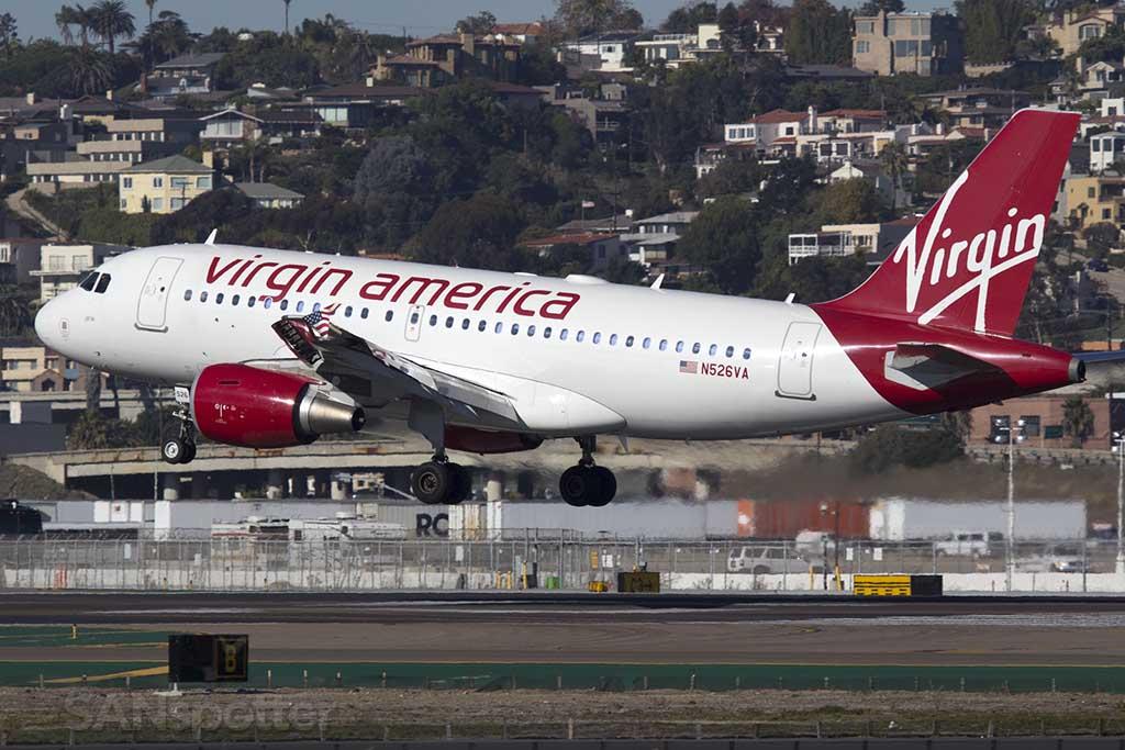 Virgin America A320 San Diego