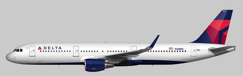 The Delta livery