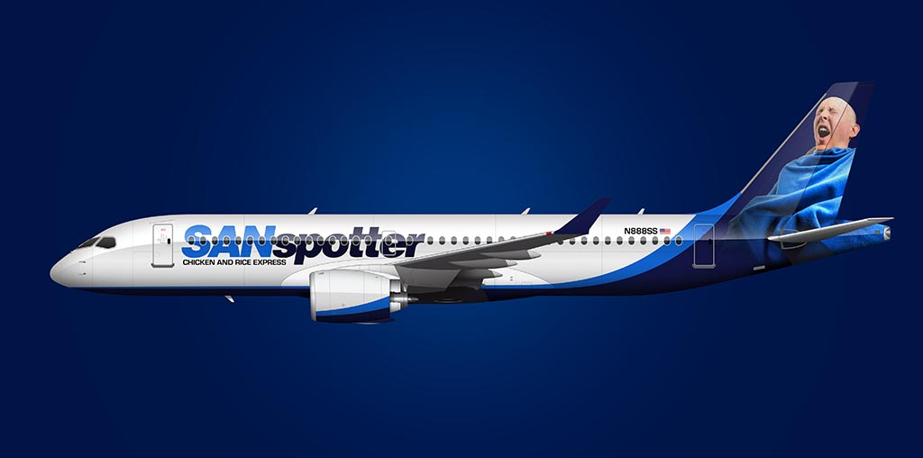 sanspotter air airbus a220 livery