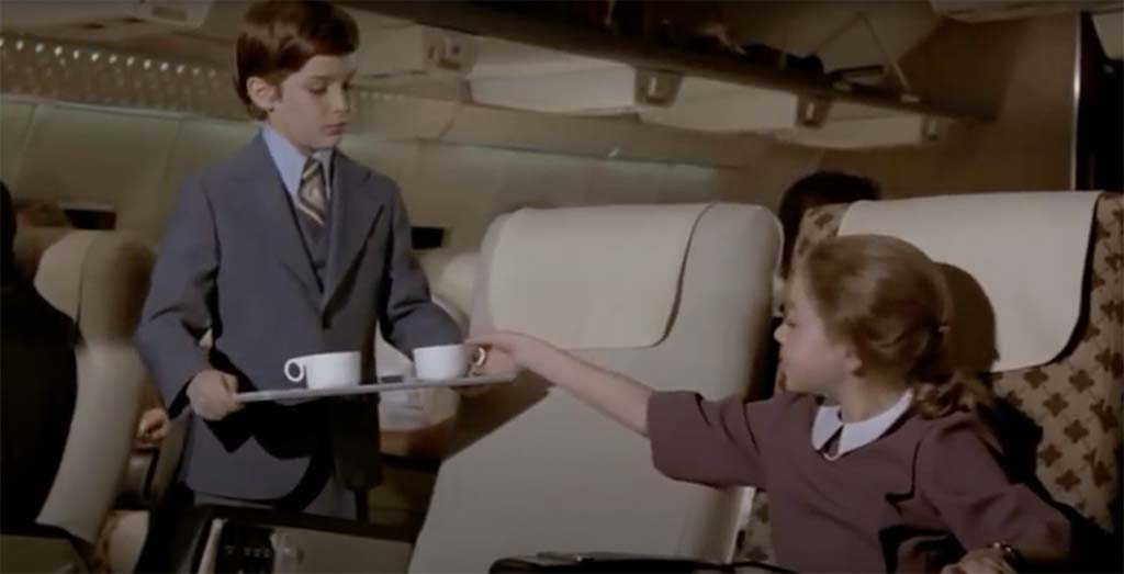 Airplane little boy coffee movie quote