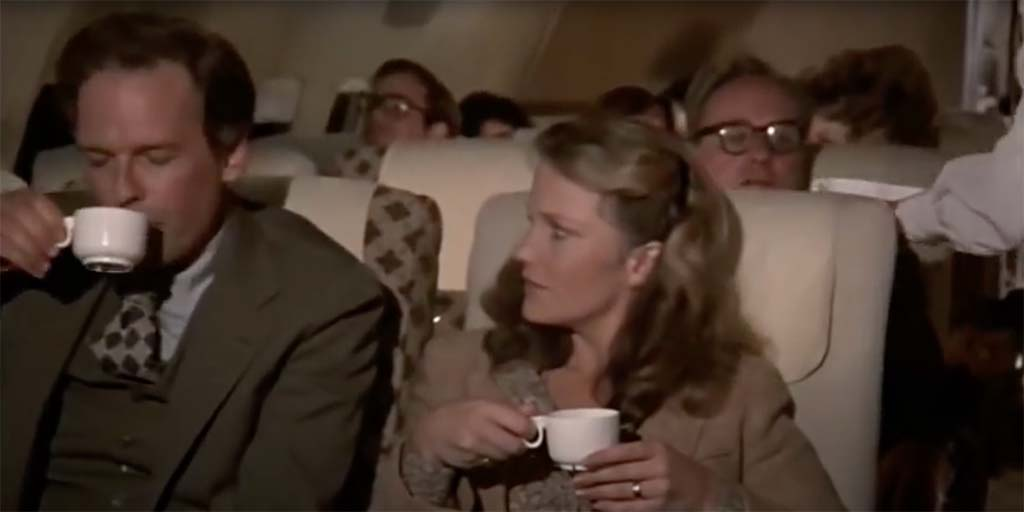 Airplane second cup of coffee movie quote