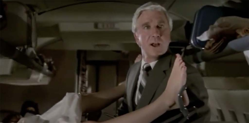 Airplane what the hell is going on up there movie quote