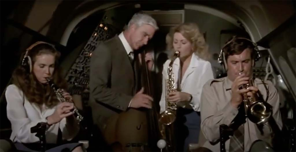 Airplane they're on instruments movie quote