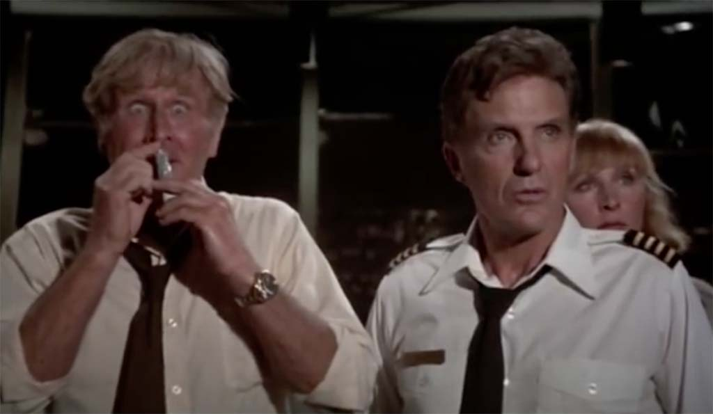 Airplane sniffing glue quote