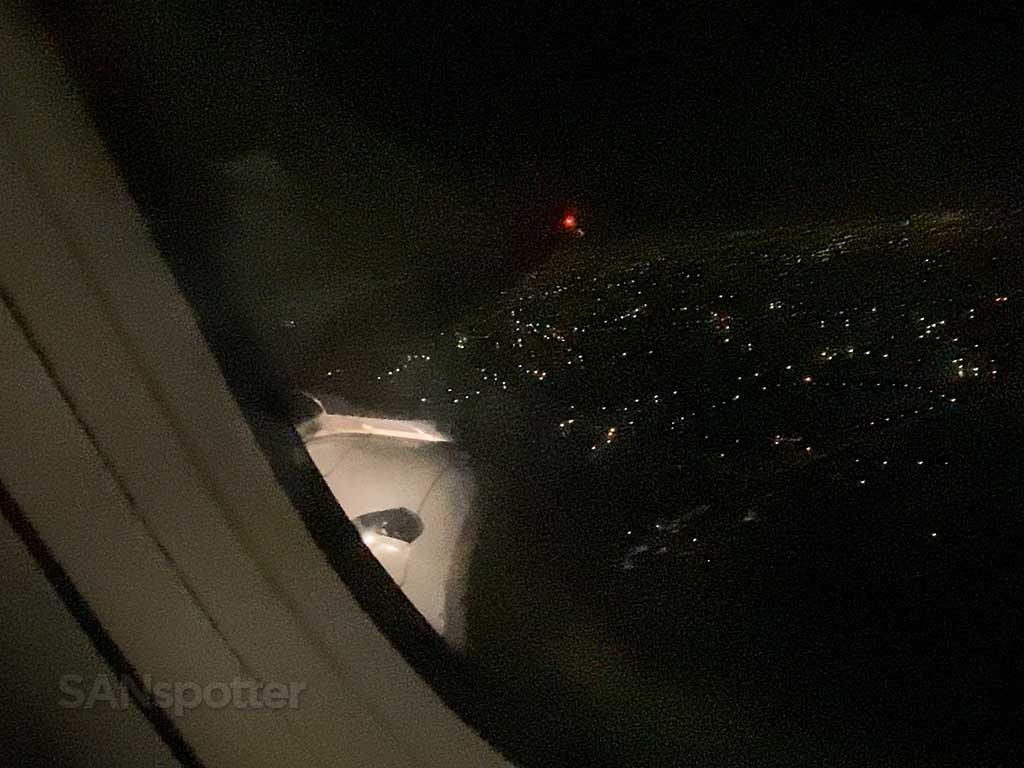 landing at TPE at night