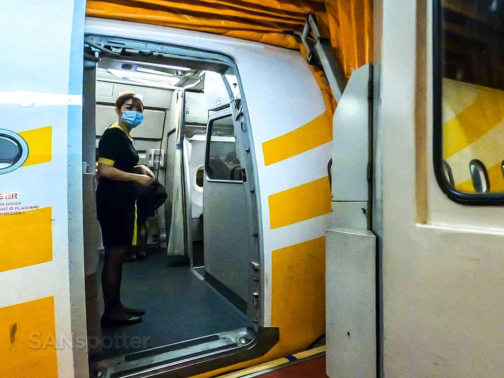 Scoot Airlines a320 boarding door