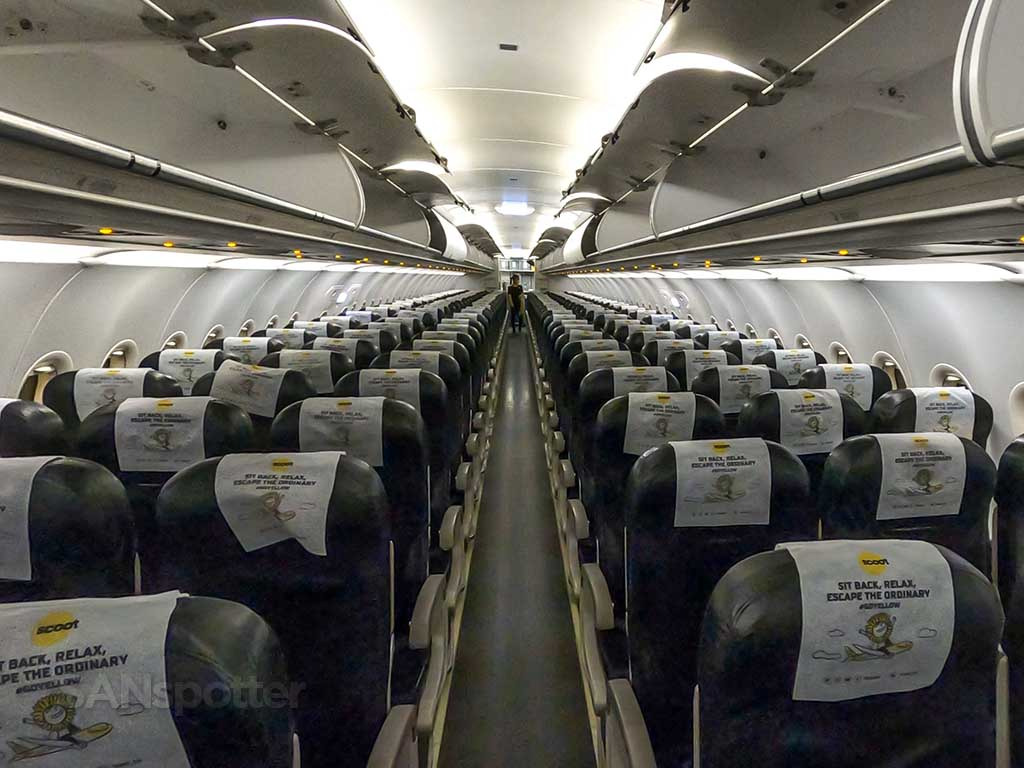 Scoot A320 interior