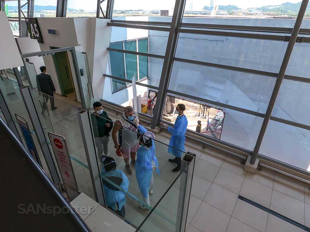 Penang airport temperature check
