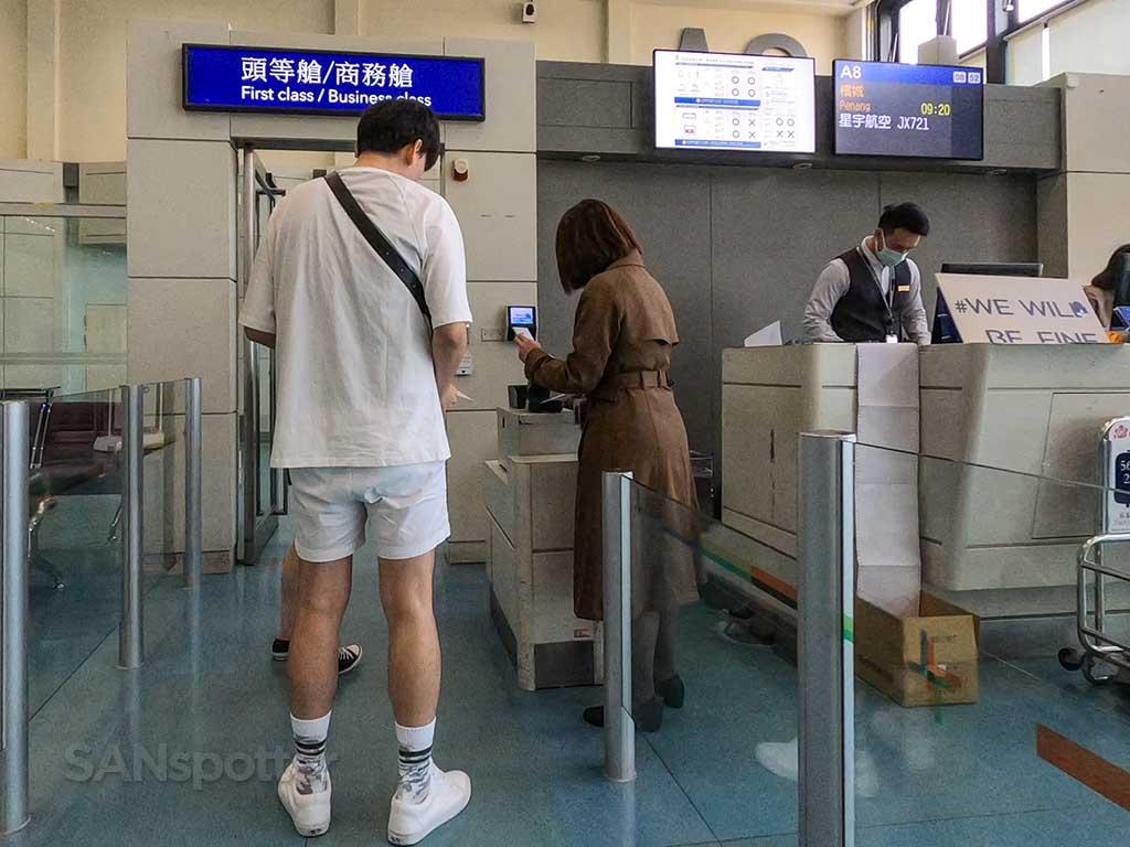 boarding Starlux flight