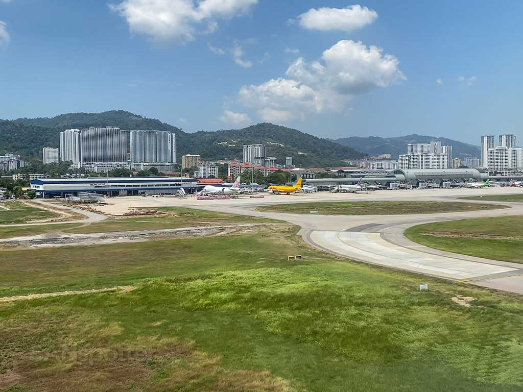 Approach to Penang airport Malaysia
