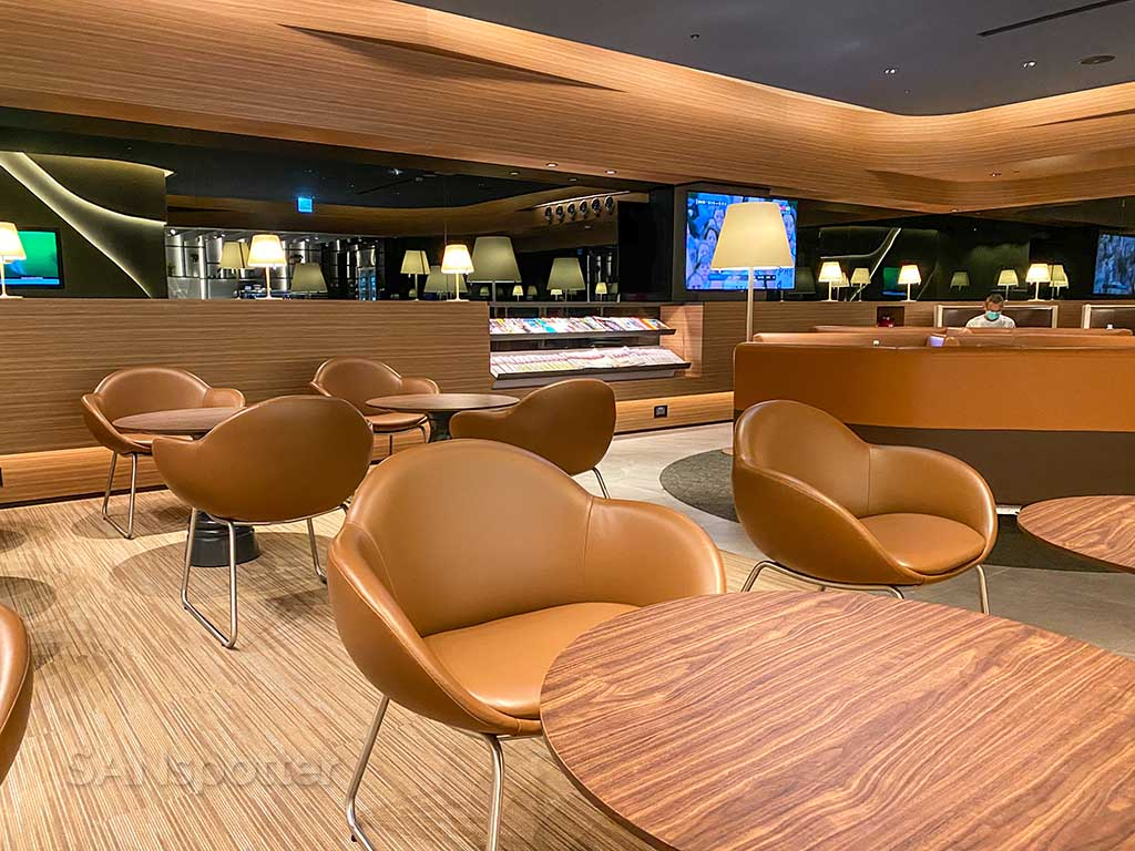 Starlux Airlines Galactic lounge inside TPE