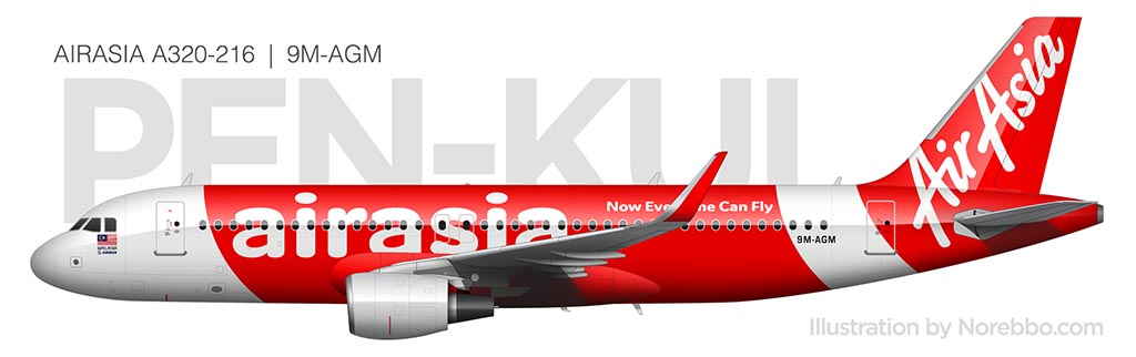 AirAsia A320 side view