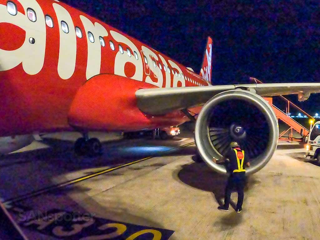 AirAsia A320 close up