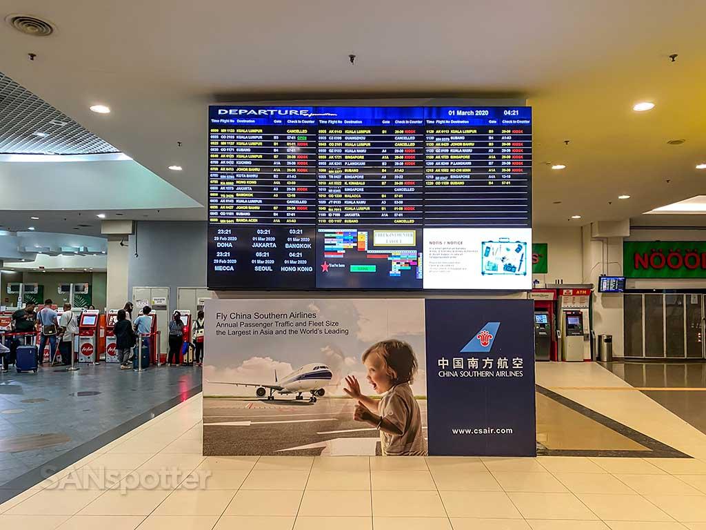 Penang airport departures