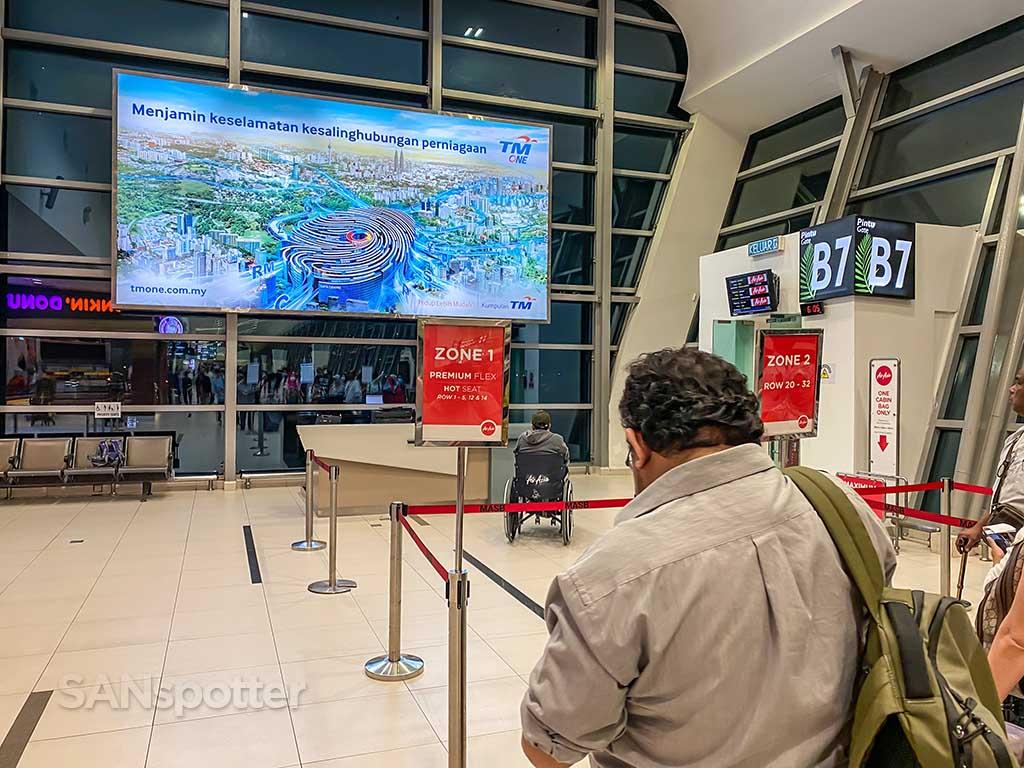 boarding AirAsia flight
