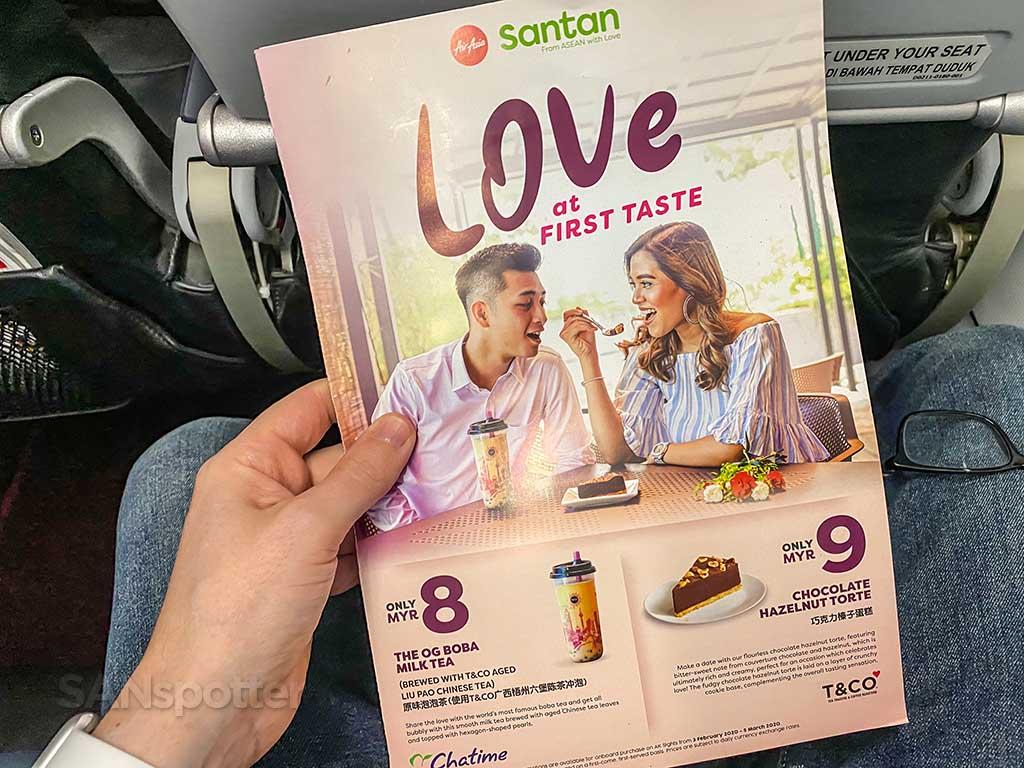 AirAsia menu cover