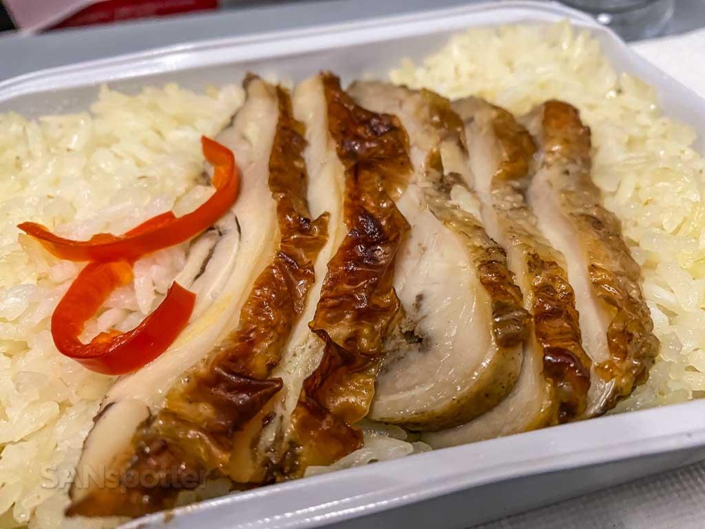 AirAsia chicken rice