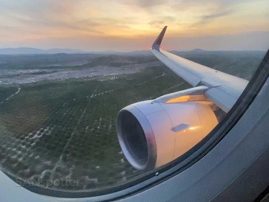 landing in Kuala Lumpur