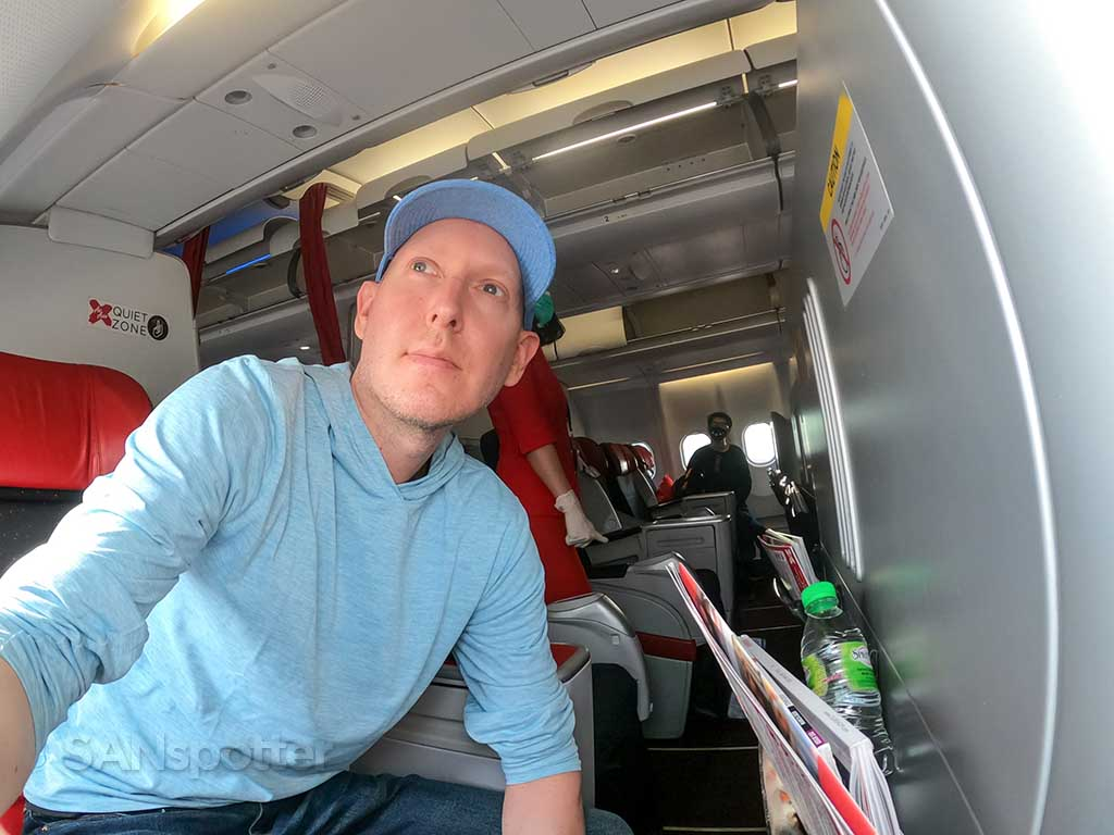 SANspotter selfie AirAsia X review
