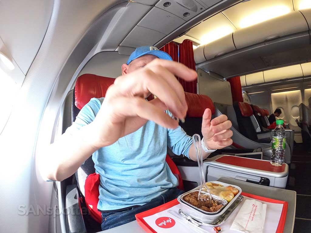 SANspotter selfie AirAsia X food