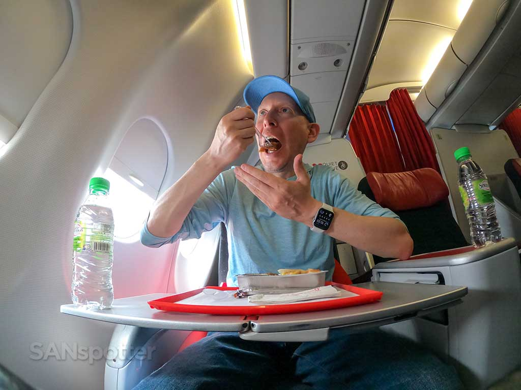 SANspotter selfie AirAsia glutinous rice