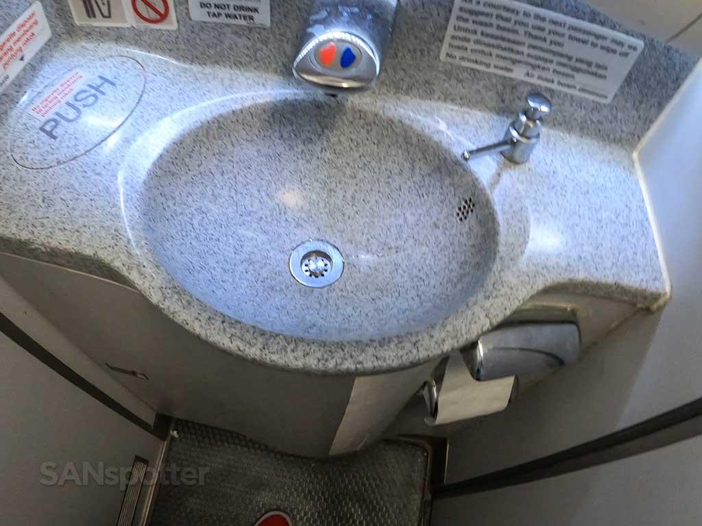 AirAsia X A330 lavatory