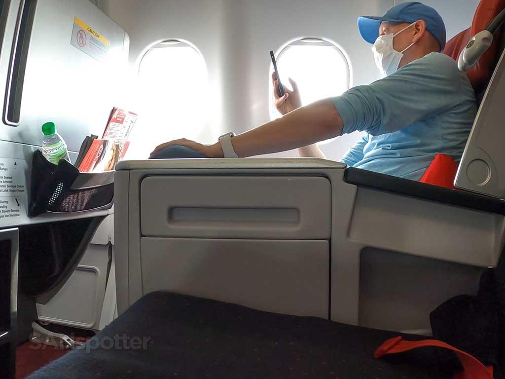 SANspotter selfie AirAsia X premium flatbed review