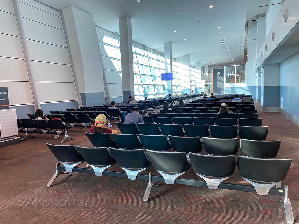 theater style seating KUL airport