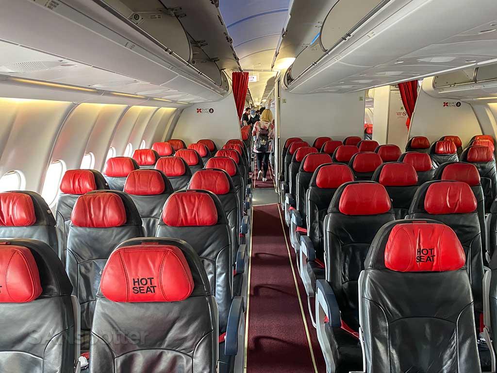 AirAsia X A330 hot seats