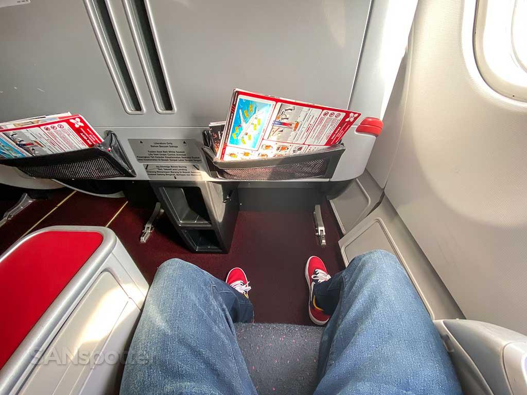AirAsia X Premium Flatbed leg room