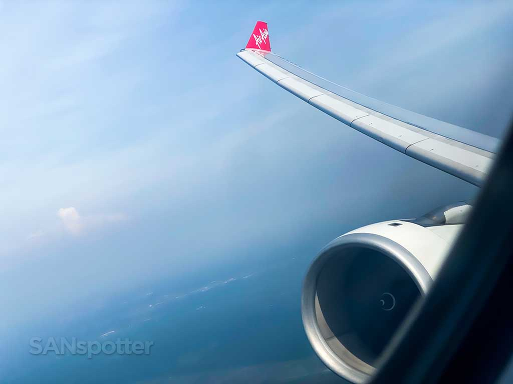 AirAsia X A330-300 wing view