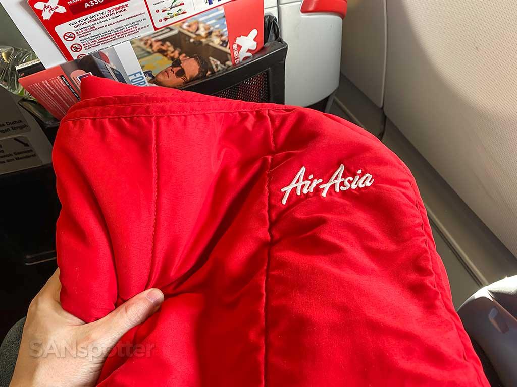 AirAsia X red blanket