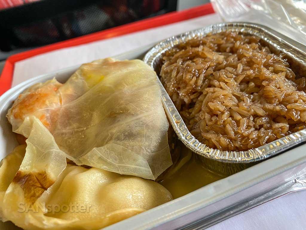 AirAsia X glutinous rice