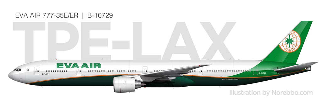 EVA Air 777-300/ER side view