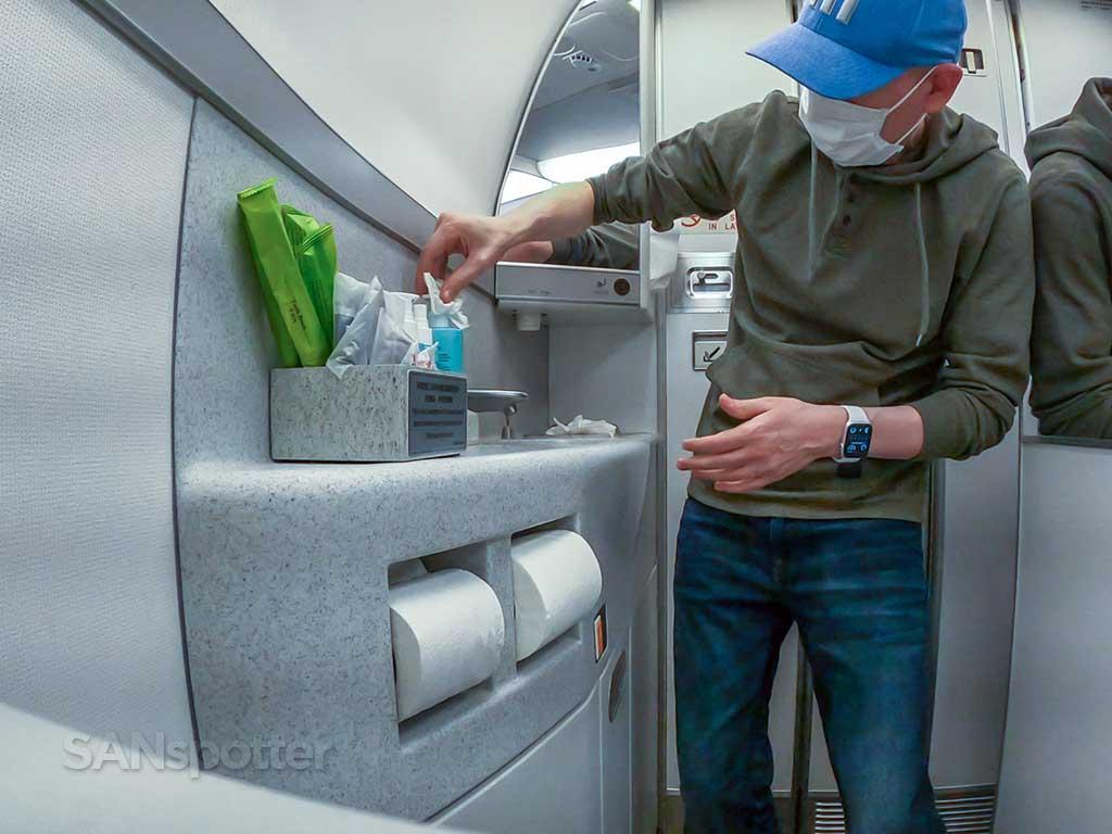 EVA Air Premium Economy lavatory 777-300