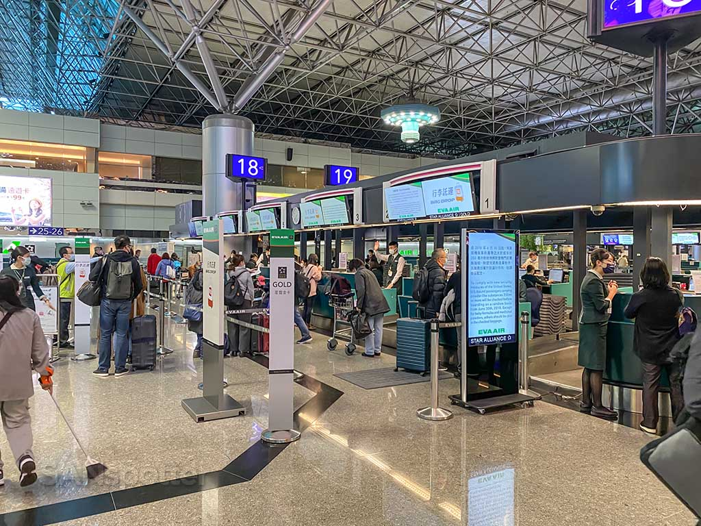 EVA Air check in Taipei terminal 2