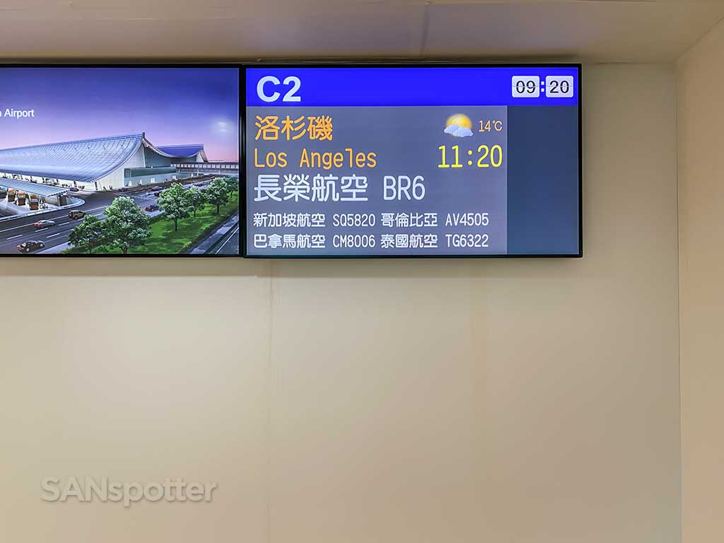EVA Air flight information board