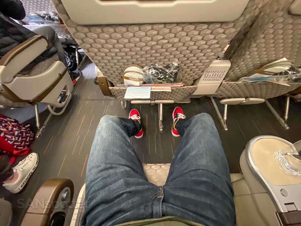 EVA Air Premium Economy leg room
