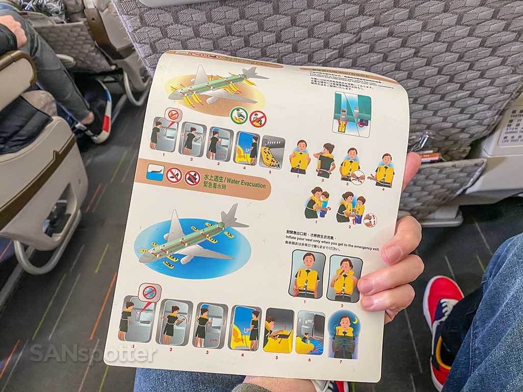 EVA Air 777-300/er safety card