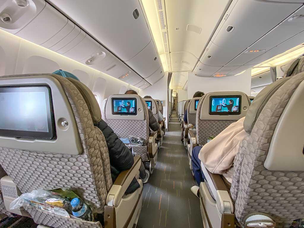 EVA Air 777-300 Premium Economy cabin