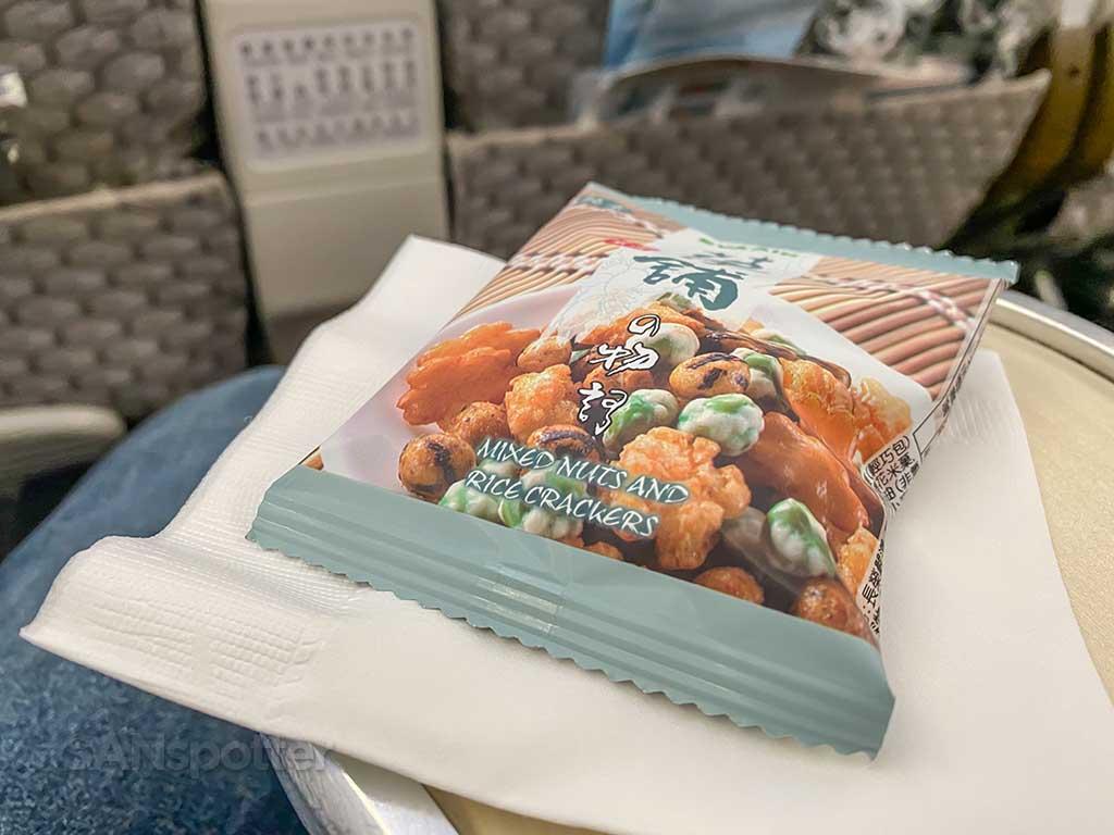 EVA Air Premium Economy snack