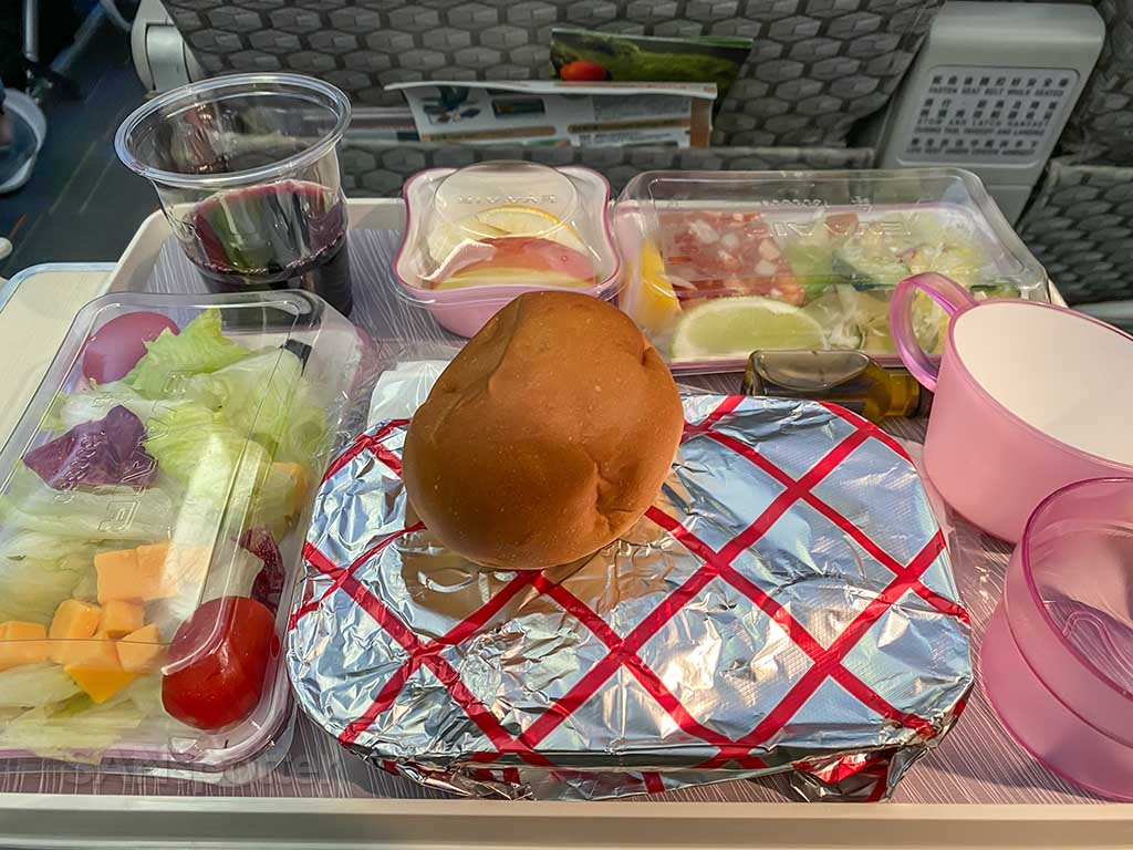 EVA Air Premium Economy meal