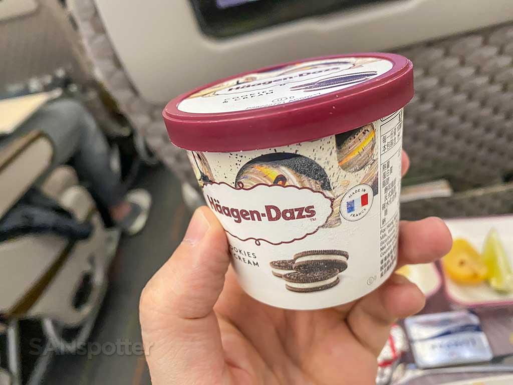 EVA Air Premium Economy dessert