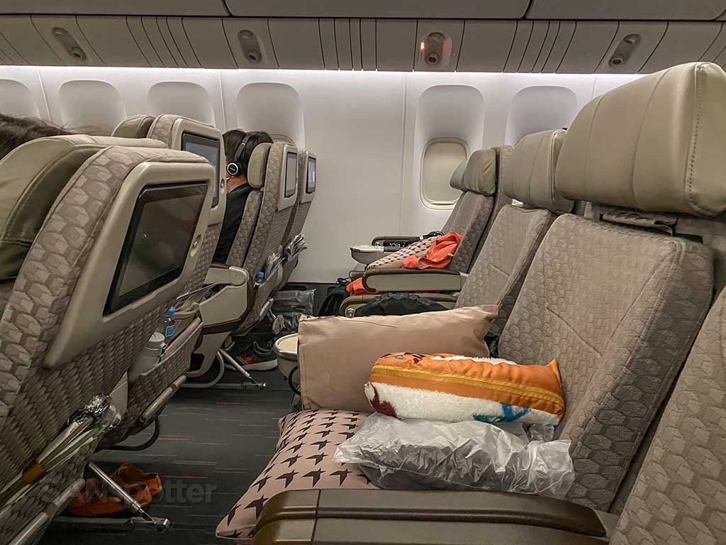 EVA Air Premium Economy seats 777-300